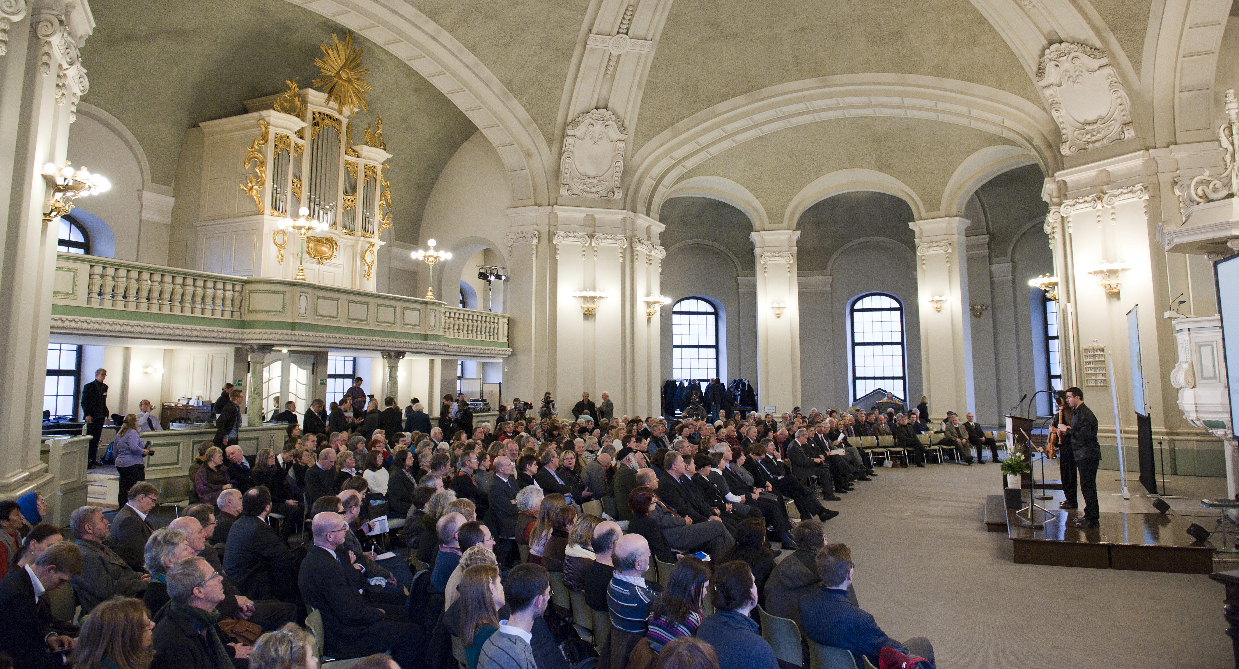 Gedenkveranstaltung am 20.01.2012 in der Französischen Friedrichstadtkirche in Berlin