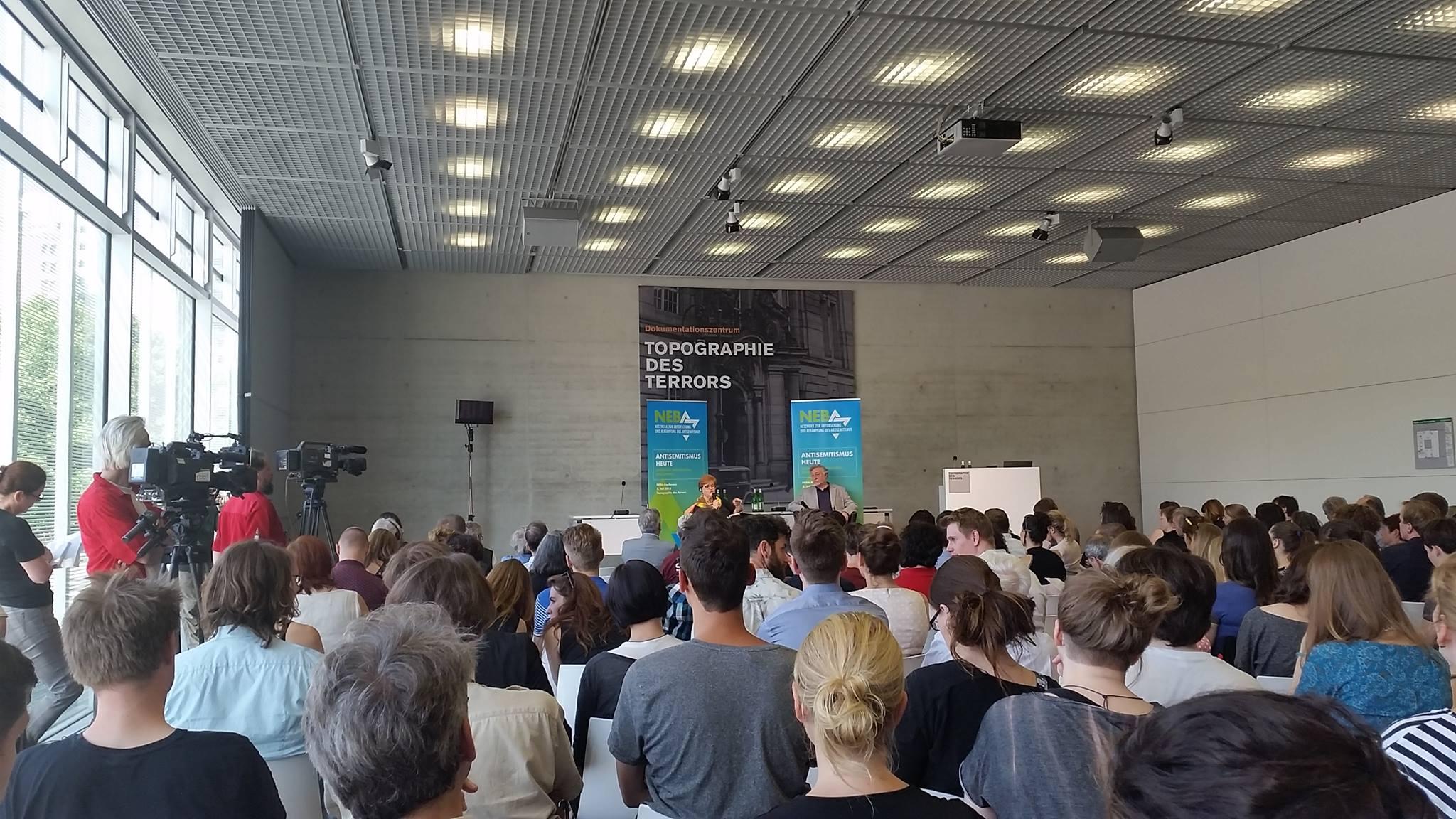 Konferenz des Netzwerks zur Erforschung und Bekämpfung des Antisemitismus (NEBA) am 02.07.2015 in der Stiftung Topographie des Terrors in Berlin