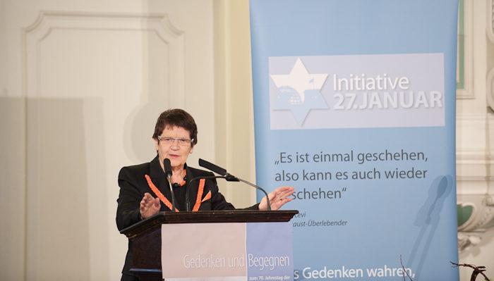 Prof. Dr. Rita Süssmuth, Bundestagspräsidentin a.D., bei der Gedenkveranstaltung am 20.01.2012 in der Französischen Friedrichstadtkirche in Berlin