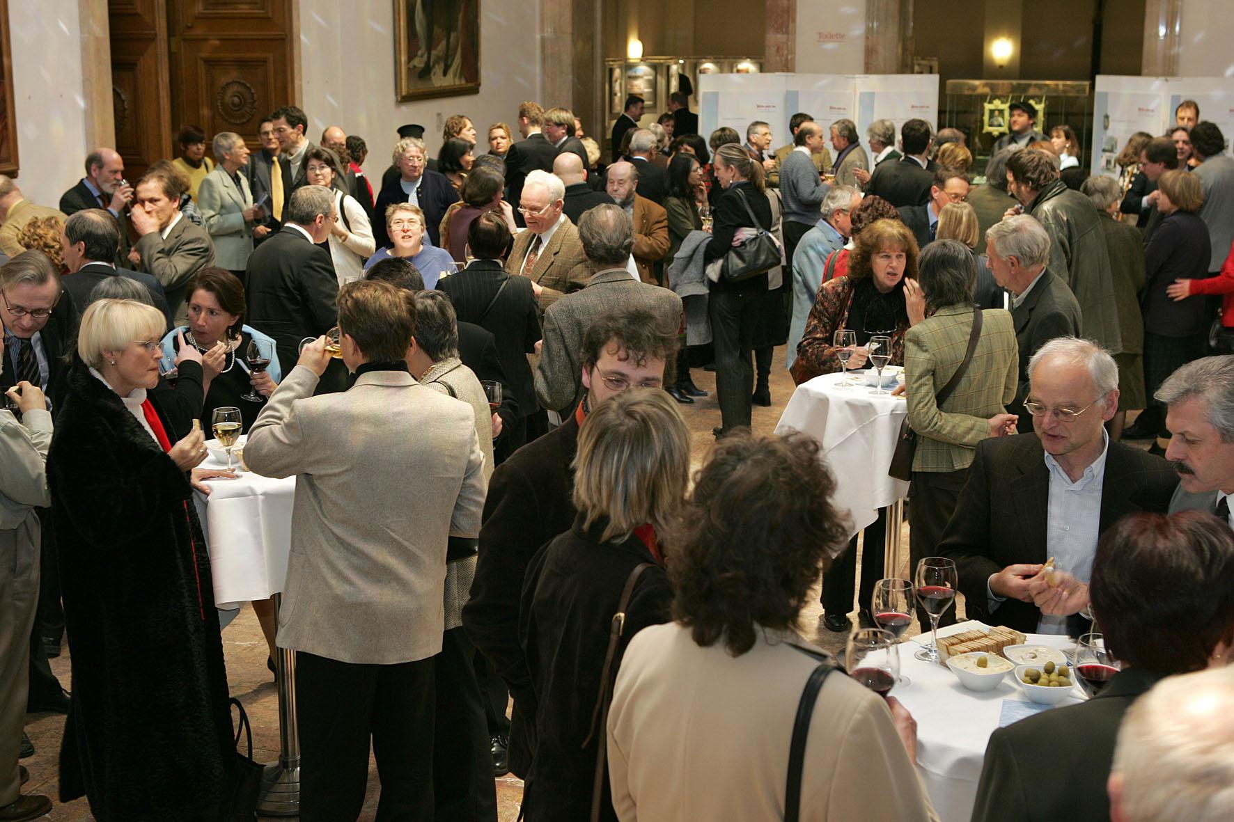 Empfang nach der Gedenkveranstaltung am 26.01.2009 im Senatssaal des Bayerischen Landtags