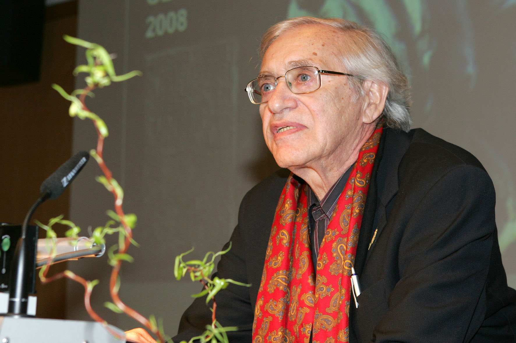 Dr. Nathan Durst bei der Gedenkveranstaltung am 27.01.2008 im Konferenzzentrum der Hannes-Seidel-Stiftung in München