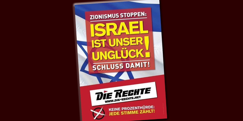 """Pressemitteilung zur Wahlkampagne der Partei """"Die Rechte"""" – Nein, Israel ist ein echter Glücksfall!"""