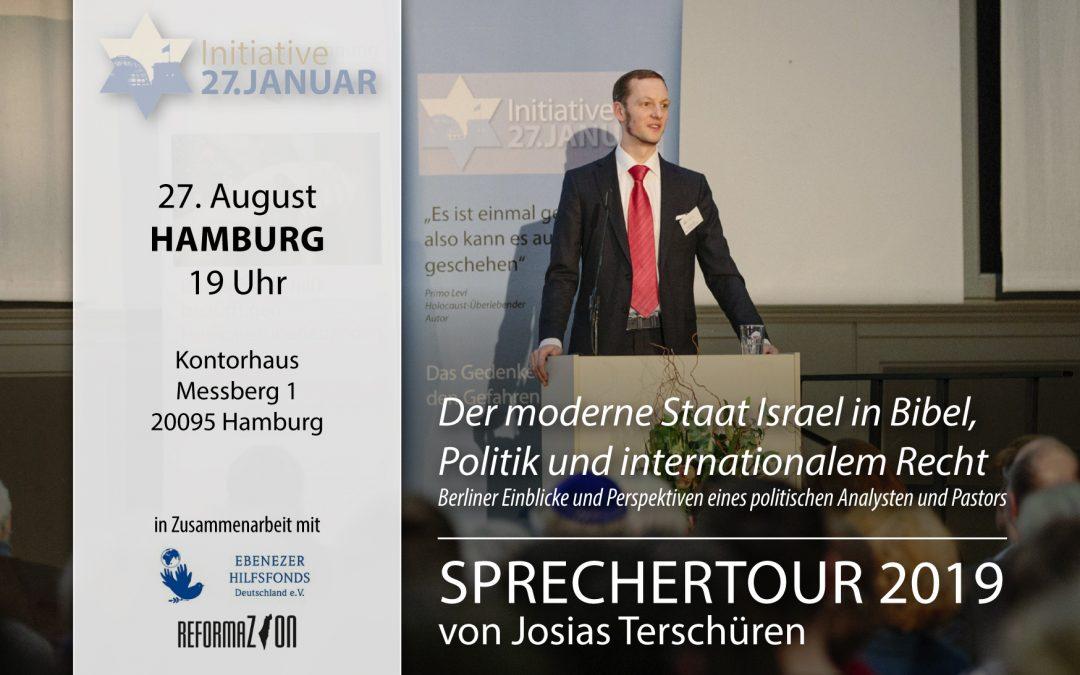 Sprechertour 2019 von Josias Terschüren | 27. August in Hamburg