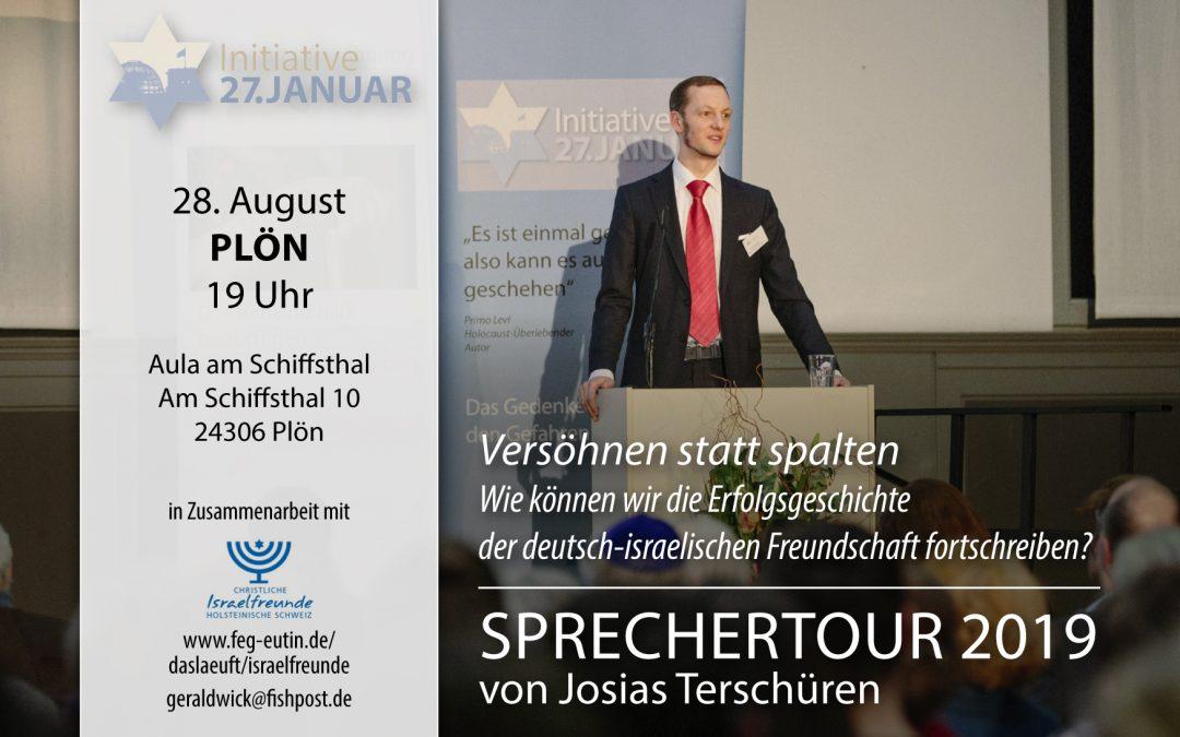 Sprechertour 2019 von Josias Terschüren | 28. August in Plön
