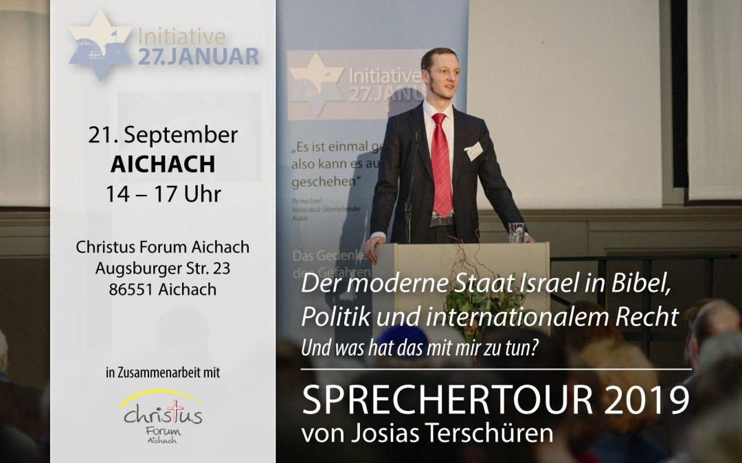Sprechertour 2019 von Josias Terschüren | 21. September in Aichach