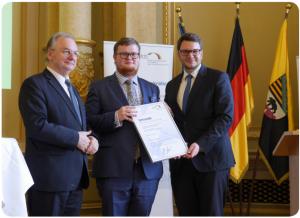 v.l.n.r. MP Dr. Reiner Haseloff, David Lüllemann, Dr. Marian Wendt MdB