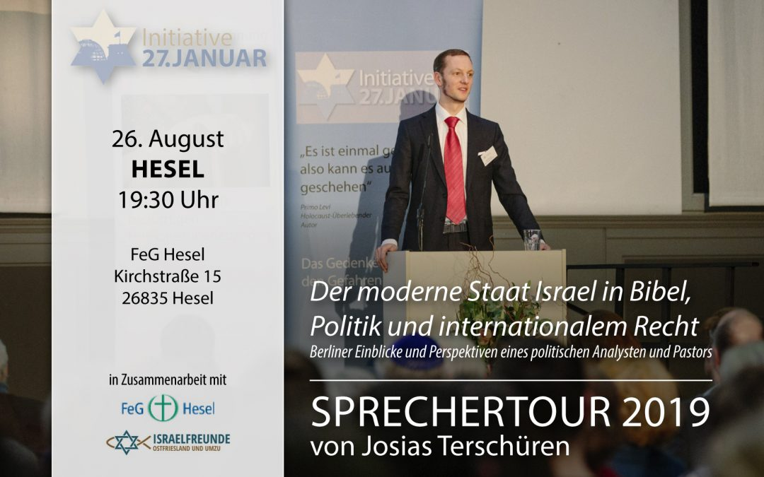 Sprechertour 2019 von Josias Terschüren | 26. August in Hesel