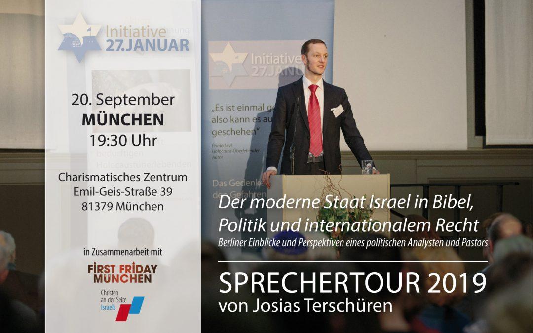 Sprechertour 2019 von Josias Terschüren | 20. September in München