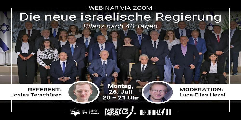 Webinar: Die neue israelische Regierung – eine 40-Tage Bilanz